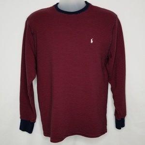 Vtg Polo Ralph Lauren Sweater Red Blue Large